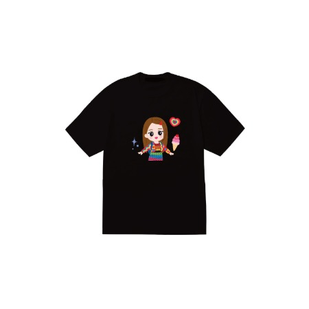 [SOPOOOM] BLACKPINK THE SHOW CHARACTER T-SHIRTS_JISOO TYPE 1