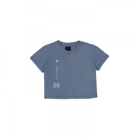 [H.Y.L.T] BLACKPINK CROPPED T-SHIRTS_BLUE