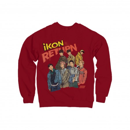 [RETURN] iKON SWEATSHIRTS_RED