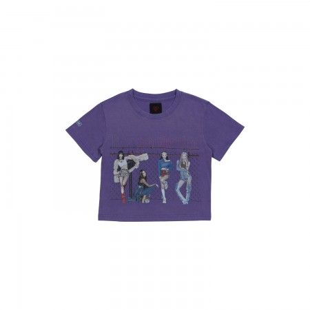 [H.Y.L.T] BLACKPINK CROPPED T-SHIRTS_PURPLE