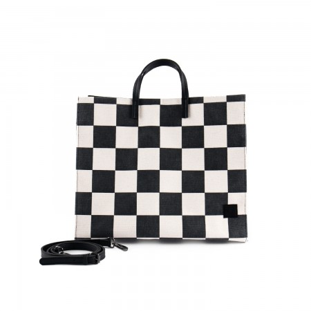 [EVERYENCORE] WINNER CHECKERBOARD BIG TOTE BAG