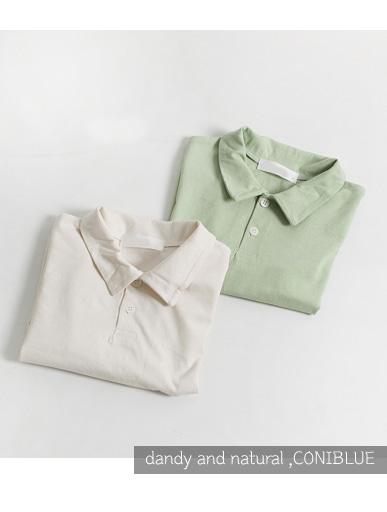 퓨어 카라 ,티셔츠